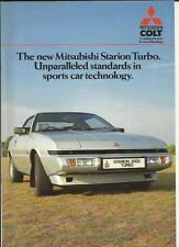 COLT MITSUBISHI STARION TURBO SALES BROCHURE APRIL 1985