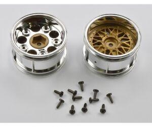 Tamiya 300050549 - Rims Porsche 934 Chr Gold 30mm (2) - New