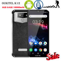 OUKITEL K12 4G Handy 6GB 64GB 10000mAh Face ID Android 9.0NFC OTG Shockproof Neu