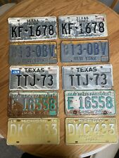 New ListingLot of 10 License Plates Mixed State Pairs Used Condition!