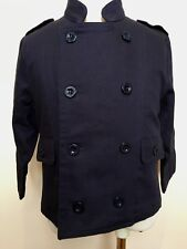 OOBI Australia Toddler French Navy Blue Cotton Double Breasted Pea Coat 2/3 Yrs