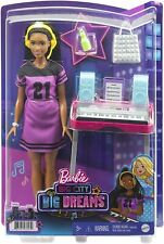 "NEW Barbie Big City, Big Dreams ""Brooklyn"" Doll with Music Studio Playset"