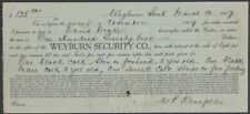 Canada 1917 receipt for Two Colts & a Mare with Saskatchewan Law Stamp