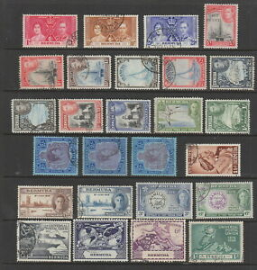 Bermuda 1937 - 1953 KGVI used collection, 26 stamps