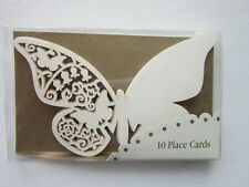 10 BUTTERFLY PLACE CARDS | Place on Glasses | Laser Cut | Wedding | Ivory/Cream