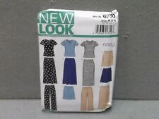 NEW LOOK PATTERN 6730 UNCUT 2000s Miss Size S - XL TOP PANTS SKIRT 2 lengths