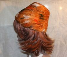 "Vtg All Feather Plume Cossack Hat Distinction ""Fashion Guild"" Originality"