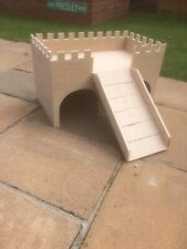Small Animal Two Tier Castle Hide Out (Larger Size, Ideal For Rabbits Etc)