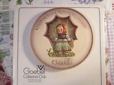 Goebel Hummel 1978 Hum690 Collectors Club Member Plate Girl W/ Umbrella