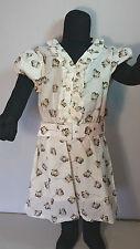 VINROSE  Kinder  Kleid  Sommerkleid  Gr. 122  ärmellos  creme taupe  Blüten  NEU