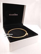 "SHINEª SMOOTH BRACELET Authentic PANDORA GOLD Plated Bracelet 8.3""21cm 567107"