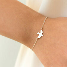 Tiny Peace Dove Bracelet Soar Flying Birds Bracelet Cute Swallow Bird BraceleFT