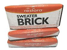 3x Restora Sweater Brick Remove Fuzz Pills & Knots -premium quality garment care