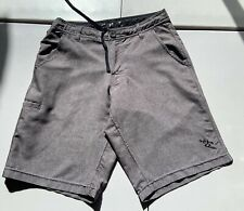 Da Hui Men's Hybrid Swim Casual Shorts Fishing Gray Poly Spandex Size 28