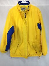 VTG LL Bean Penobscot Parka Womens Large Yellow Nylon Ski Jacket Coat Thinsulate