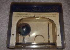 NEW - Handcrafted Gemstone Globe Desk Set W/ Pen