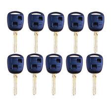 Lot 10 Car Remote Key Shell fit for Toyota Prado RAV4 Uncut Blade Key Cover 2BT