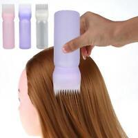 Hair Dye Bottle Applicator Comb Brush Dispensing Salon Hair Coloring Dyeing Q