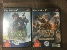 FREE SHIPPING PS2 SONY PLAYSTATION 2 MEDAL OF HONOR & RISING SUN SET