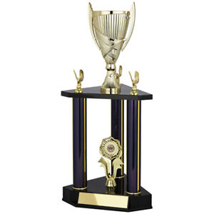 2-Tier Column Tower Trophy Gold Cup Multisport Award FREE Engraving Martial Arts