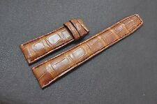 22mm Padded Red Brown ALLIGATOR CROCODILE LEATHER SKIN WATCH STRAP BAND#NEW#K08