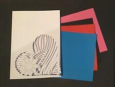 DIY Greeting Card - Handmade Decorative Heart Window Blank & Coloured Insert X 4