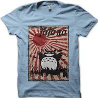 Godzilla Totoro Rising Sun Tokyo printed t-shirt 9109