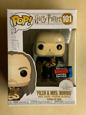 Funko POP Filch & Mrs. Norris Harry Potter 2019 NYCC Exclusive Vinyl Figure #101