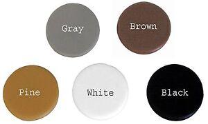 18mm Round Flat Plastic Cam Lock - Screw Cap Dress Covers (20 Pack) Choose Color