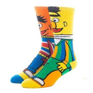 Jim Henson's BERT & ERNIE SESAME STREET 360° socks Colourful UK Size 5-10 1 pair