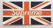 Supreme UK Flag Vinyl Sticker Decal United Kingdom Great Britain