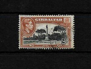 Gibraltar, 1938 KGVI 2/- black & brown perf 13.5 used (G052)