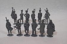Serie complete NAPOLÉON 3B de 12 figurines MOKAREX 1954 ronde-bosse plate