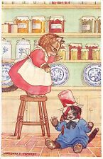 Margaret Tempest Artwork Postcard Cat-Astrophe Dressed Cats Spill Jam Jar~108925