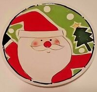 Christmas Santa Serving Plate Sleigh Bell Bistro 10 Inch Food Safe