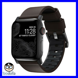 NOMAD Active Strap Pro Waterproof Leather, Apple Watch 42/44mm, Brown / Black