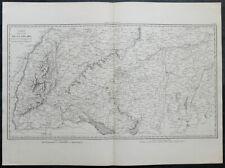 Carte militaire GOUVION SAINT-CYR 1836 SOUABE Stuttgard Ulm Memmingen Augsburg 7