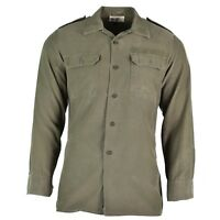 Original German army field shirt Olive military issue combat shirt long sleeves