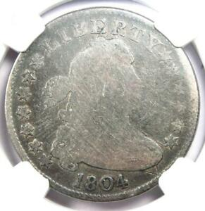 1804 Draped Bust Quarter 25C Coin - Certified NGC AG Details - Rare Date Coin!