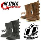 2021 ICON ELSINORE  2 VINTAGE MOTOCROSS STYLE STREET BOOT - PICK SIZE / COLOR