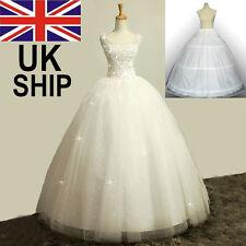 3-Hoop 2-Layer Bridal Petticoat Wedding Prom Dress Underskirt Gown Crinoline