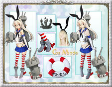 Japan Anime Kantai Collection Shimakaze Cosplay Costume Deluxe Set