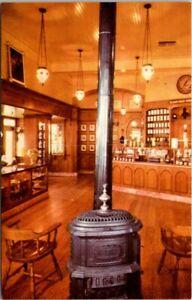 Postcard~Disneyland~Upjohns Pharmacy~Pot-Bellied Stove~Chrome Vintage