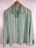 SOMMERMANN Bluse, mehrfarbig gestreift, Größe 42