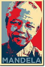 NELSON MANDELA PHOTO PRINT POSTER GIFT (OBAMA HOPE INSPIRED)