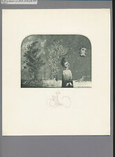 EX19296 EX Libris KONSTANTIN J KALINOVICH woman in landscape signed c3
