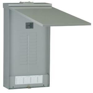 GE Outdoor Main Breaker Load Center Circuit Breaker Panel Box Plug In Copper Bus