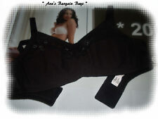 Playtex 18 Hour-Fits-Beautifully-Size-12C-Lace trim-Wire Free Bra-NWOT-Black
