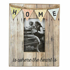 HOME RUSTIC BUNTING PHOTO FRAME SENTIMENTAL WORDS BY SASS & BELLE