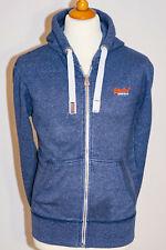 Superdry Mens Orange Label Full Zip Hooded Sweatshirt Hoodie Blue - Size Medium